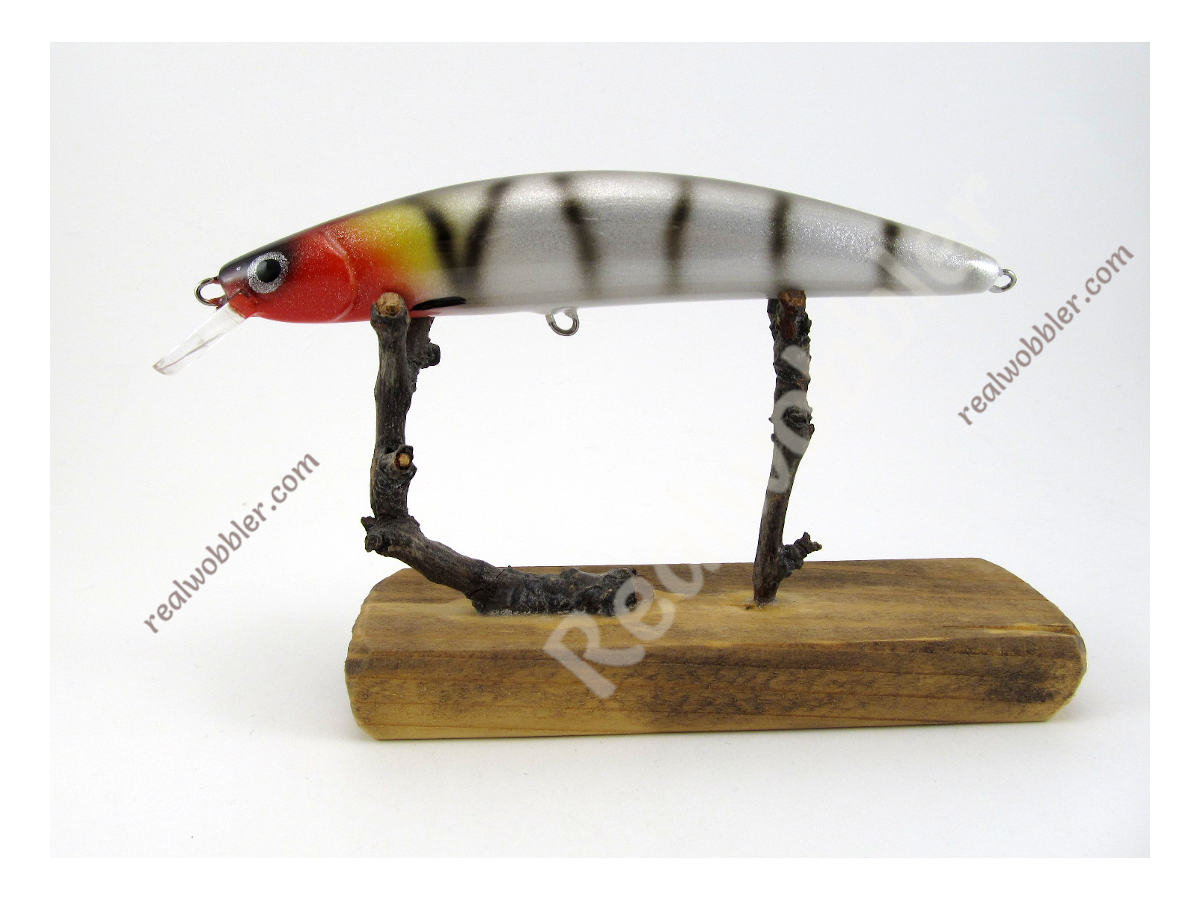 Handmade Crankbait Retro Fire Cat Slim S 9