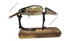 Zweiteiliger Wobbler S mit Nase-Fischhaut