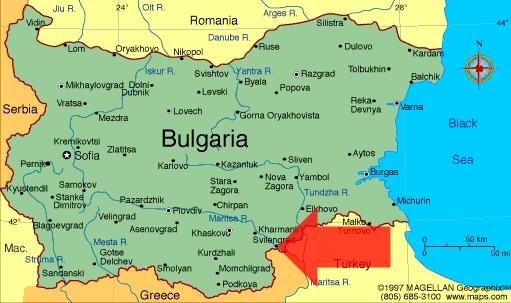 Map Bulgaria-Svilengrad